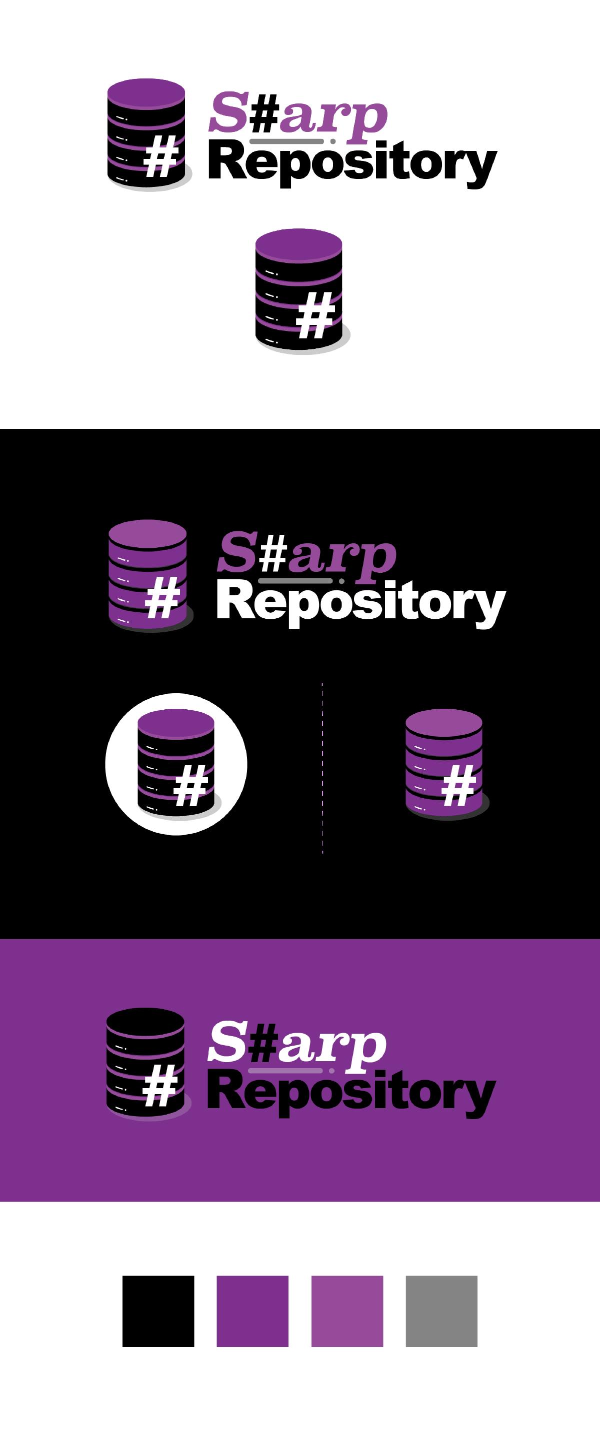 Logo per Sharp Repository | Versione principale e negativa