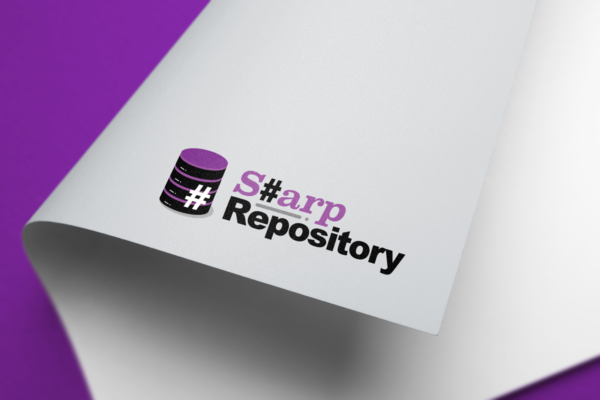 Il logo di Sharp Repository | Effetto stampato