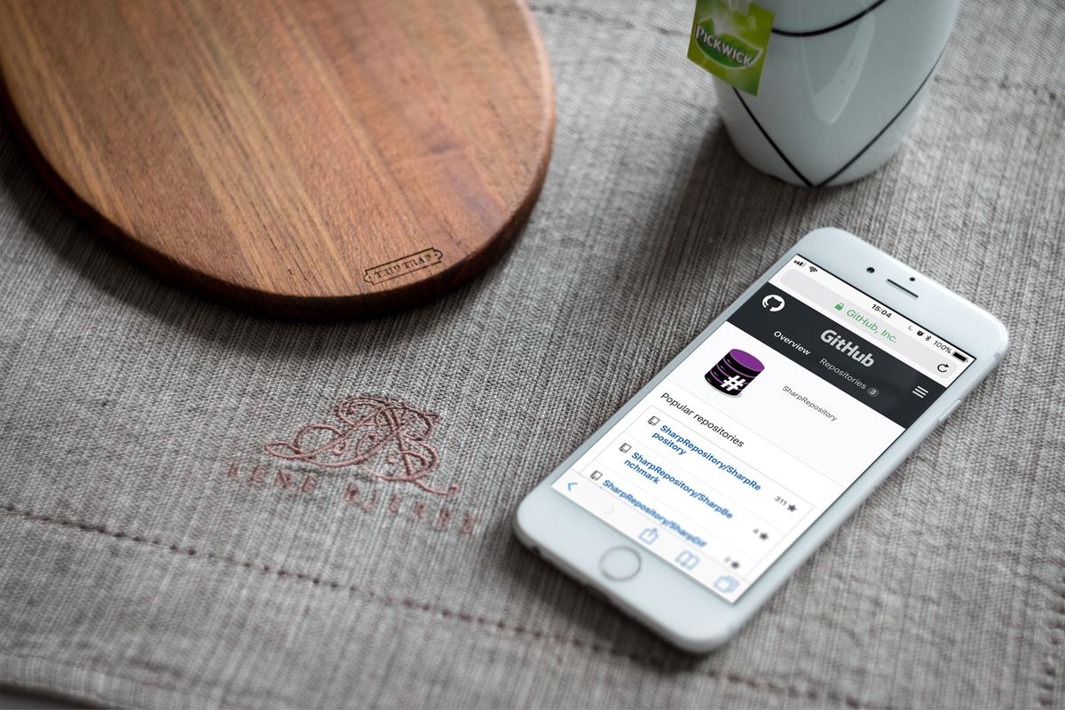 Il logo di Sharp Repository su Github, da smartphone