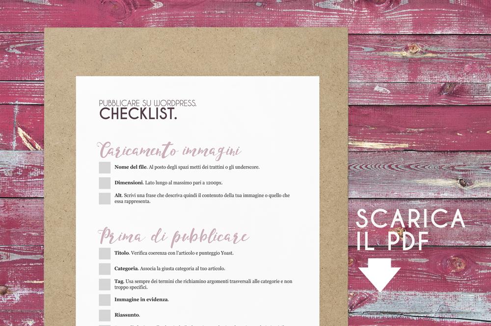 Clicca per scaricare la checklist e stamparla