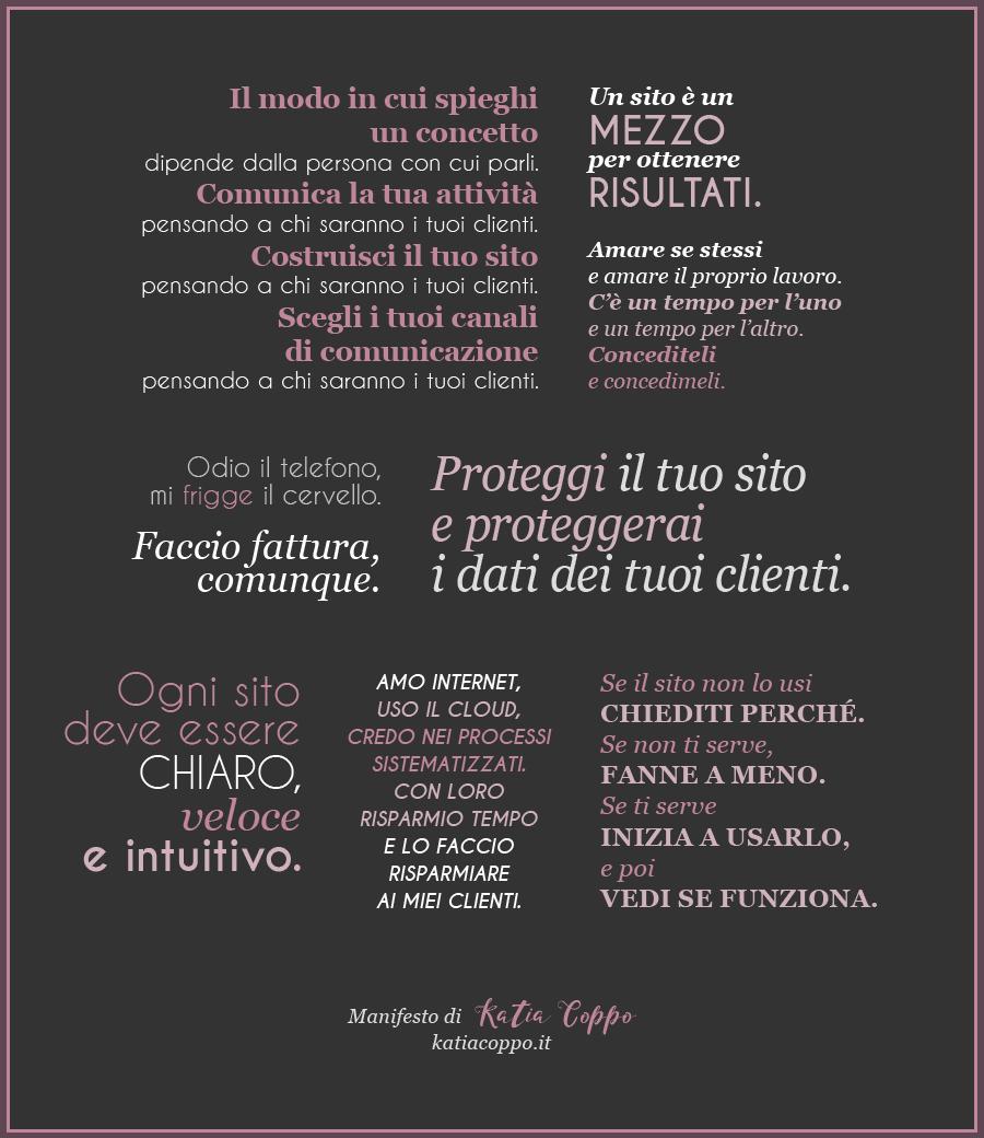 Manifesto di Katia Coppo